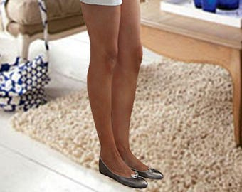 Silver Leather ballet flats, Handmade silver soft leather ballet flats, comfortable soft leather flats, silver women shoes