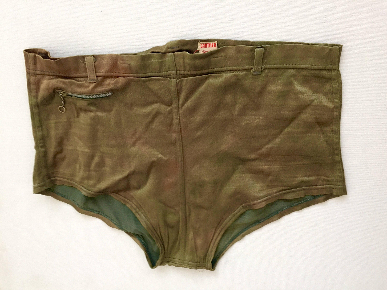 1930 ' s troncs de bain vintage pour homme swim taille Short vert taille swim des hommes taille 34 RARE 82fdb9