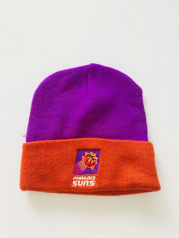 best sneakers 30205 e365c store mens phoenix suns new era purple current logo biggest fan 2.0 cuffed  knit hat 659cb 7e018  clearance 90s deadstock pheonix suns beanie vintage  logo 7 ...