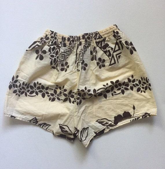 58b8784268 1950s 1960s mens swim shorts Vintage mens swim trunks Hawaiian | Etsy