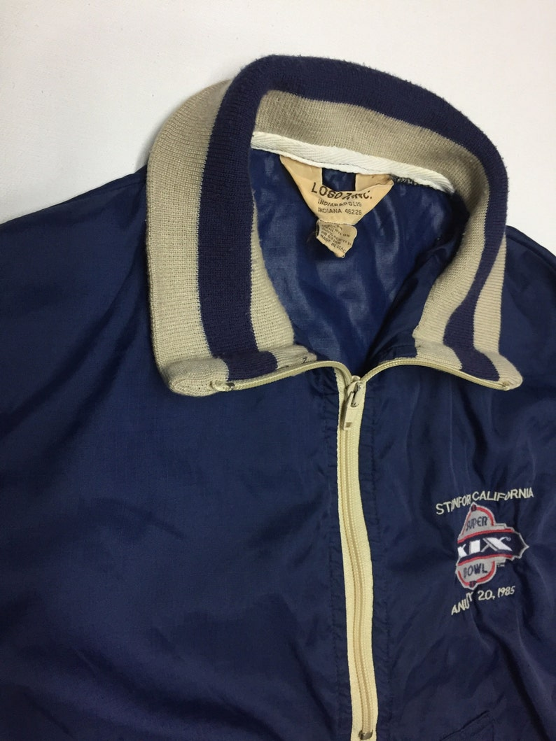 promo code 8bcaa a5d0e Vintage Windbreaker Jacket Nylon Jacket 1980s Pullover Super Bowl 19 size x  small, small Logo 7