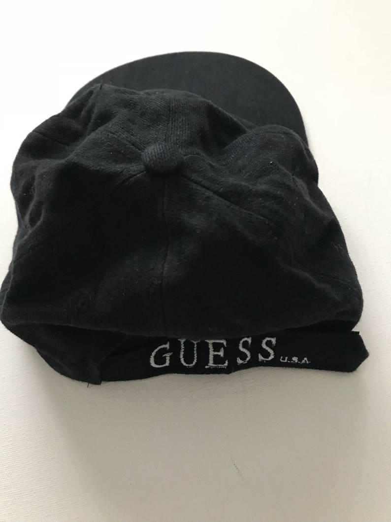 90 s GUESS strap back hat vintage guess jeans usa  49a9625ec9d7