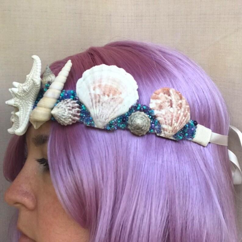 Starfish Blues Mermaid Crown
