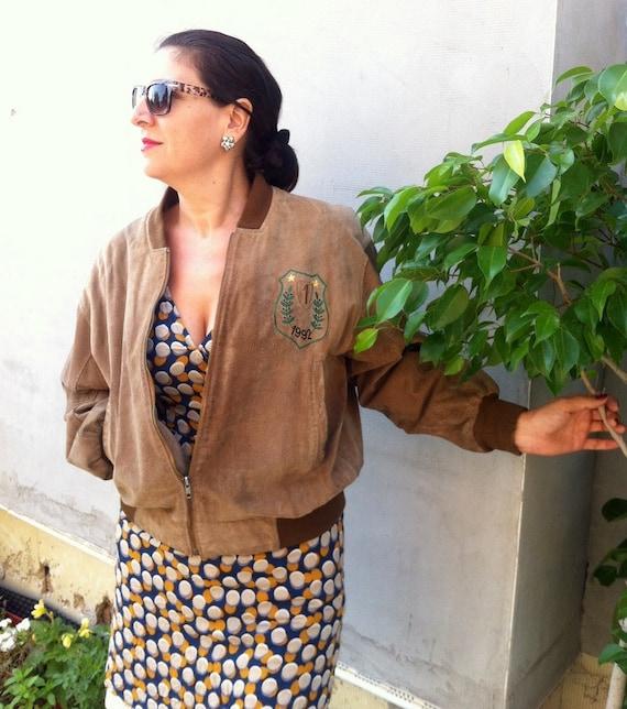 Flight Vintage Brown Leather jacket Vintage leathe