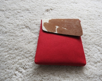 Leather fur and Sisal Bags