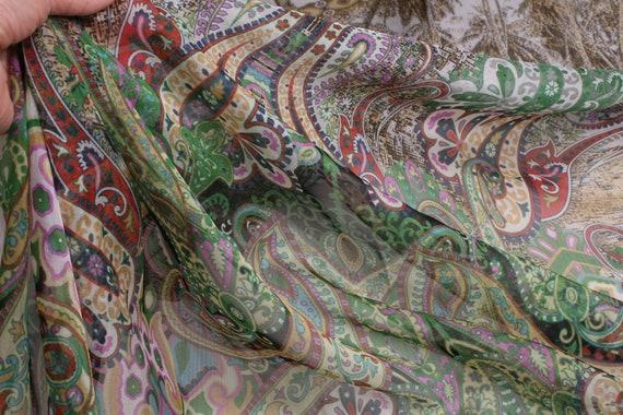 Chiffon Coupon Etro, Ar T201 — Chiffon Coupon — Coupon Etro — Chiffon Etro — Silk Etro — Luxurious Silk — Etro — Silk — Fabric