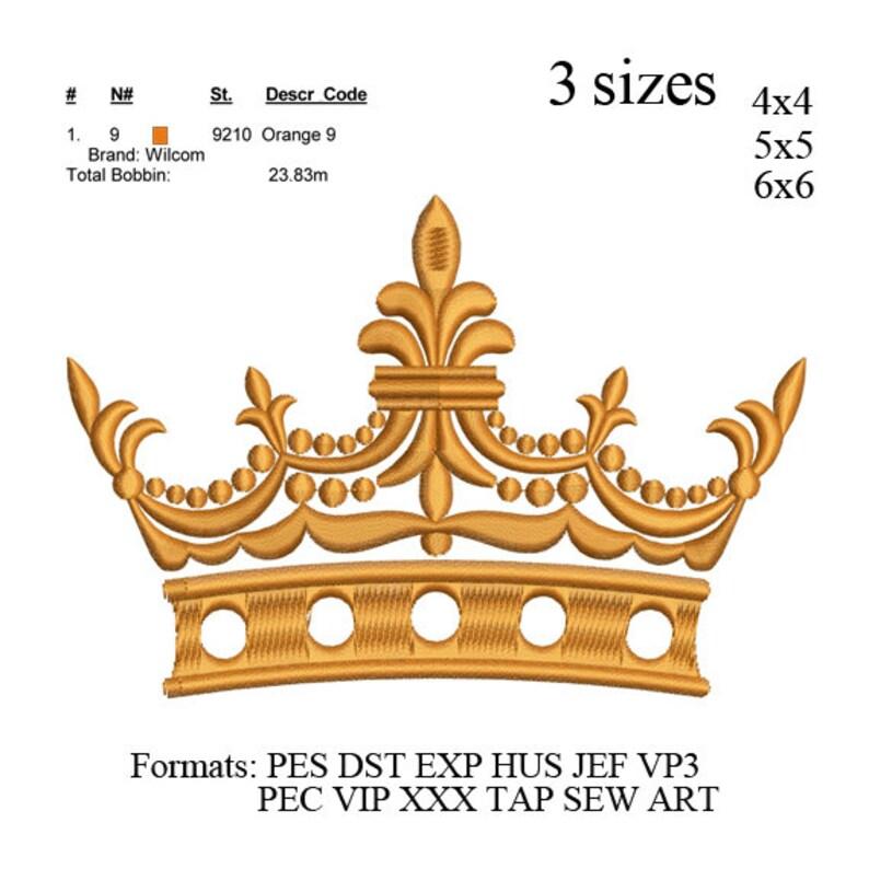 Princess Crown embroidery design,Crown embroidery pattern,mini crown embroidery,Tiara embroidery design girly crown embroidery design N699