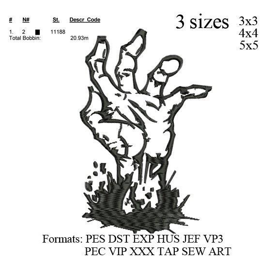 Bordado a mano diseño patrón de bordado de Zombie Zombie | Etsy