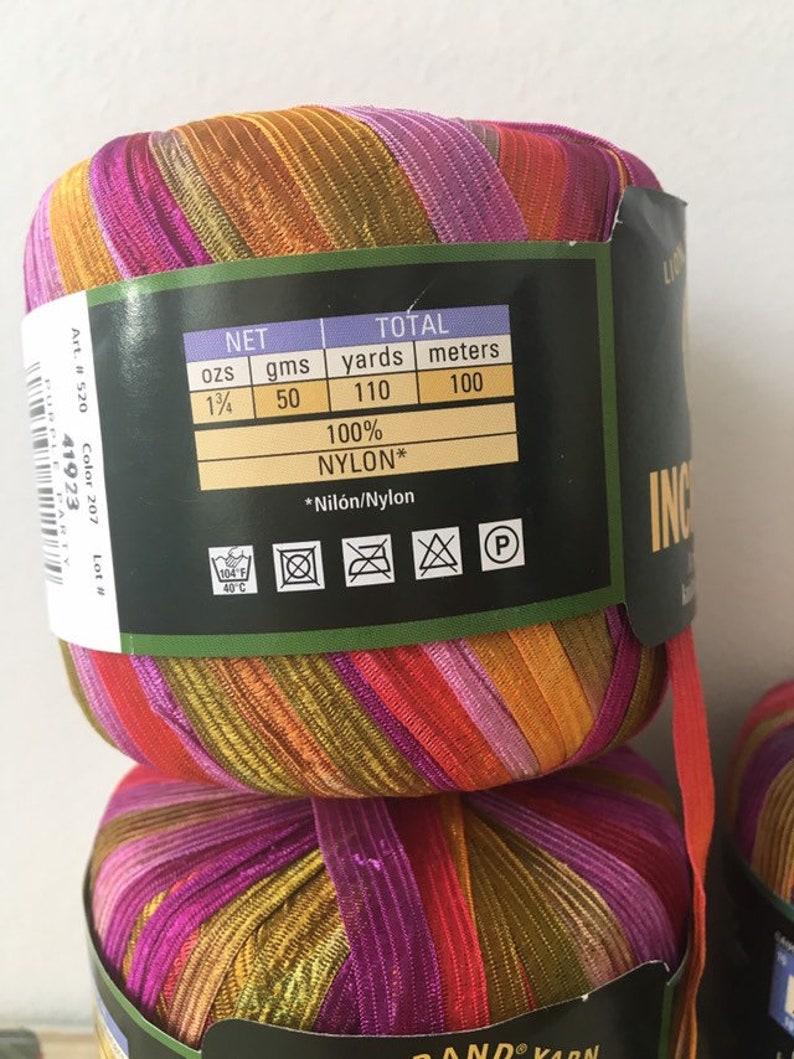 Purple Party Incredible Ribbon Yarn Lion Brand Yarn Specialty Yarn Novelty  Yarn Multi Color Ribbon Yarn