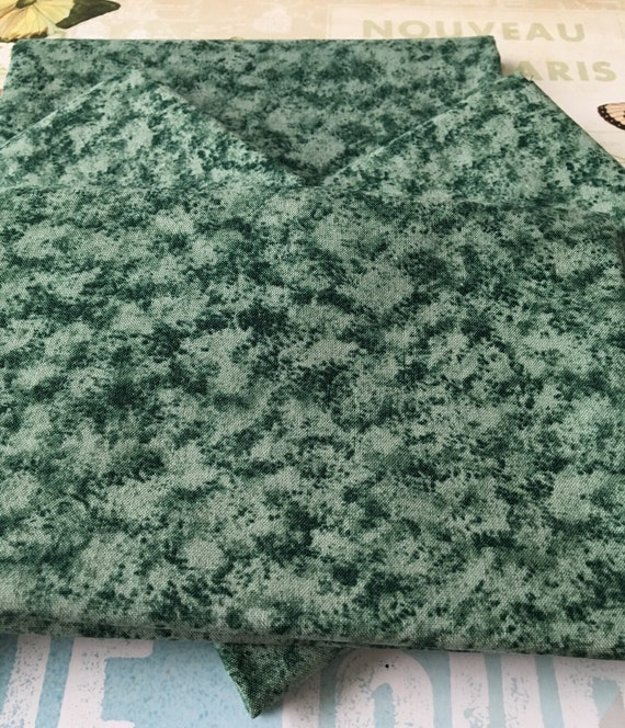 Green Fat Quarter Watercolor Fat Quarter Cotton Destash Cotton Fat Quarter