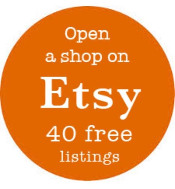 open a new etsy shop 40 free listings etsy referral link etsy rh etsy com