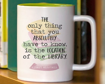 Bookish Coffee Mugs with Sayings Book Lover Gift for Her or Him Librarian Teacher Gifts Ceramic Coffee Cup Mom Gift