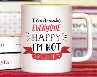 Funny Mug, Coffee mug with sayings, Coffee Lover Gift, Nutella Mug, Funny Coffee Mug, Coffee Cup, Cafe, Espresso, Gifts for Her or him