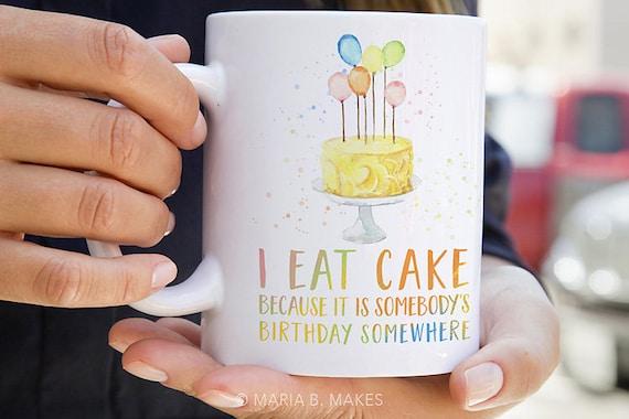 Kaffeebecher Mit Spruchen Essen Kuchen Kuchen Geschenk Etsy