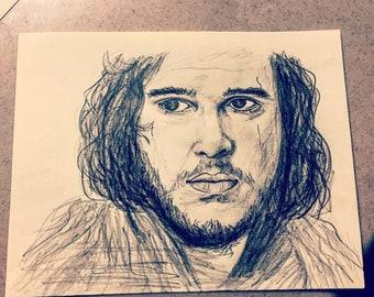 Jon Snow - Hand Drawn Pencil Sketch