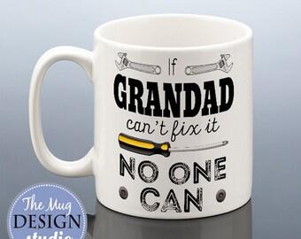 GRANDAD MUG Grandad Birthday Gift Grandad Can Fix It Birthday Cup for Grandad Grandpa Gift Grampy Gramps Pops Grandfather Birthday Present