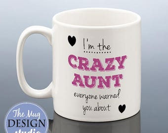 CRAZY AUNT MUG Auntie Birthday Gift Aunt Cup Aunty Present For Her Mothers Day Coffee Mug