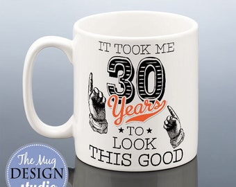 30th Birthday Mug Cup BIRTHDAY Gift For Him Her Present Friend 30 Idea Years Coffee