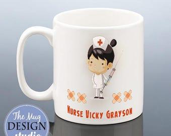 Nurse Mug PERSONALISED NURSE Christmas Gift Nurses Birthday Cup New Present Qualified Student Friend