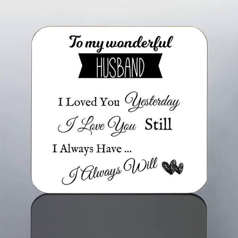 My Wonderful Husband MUG I Love You Birthday Gift