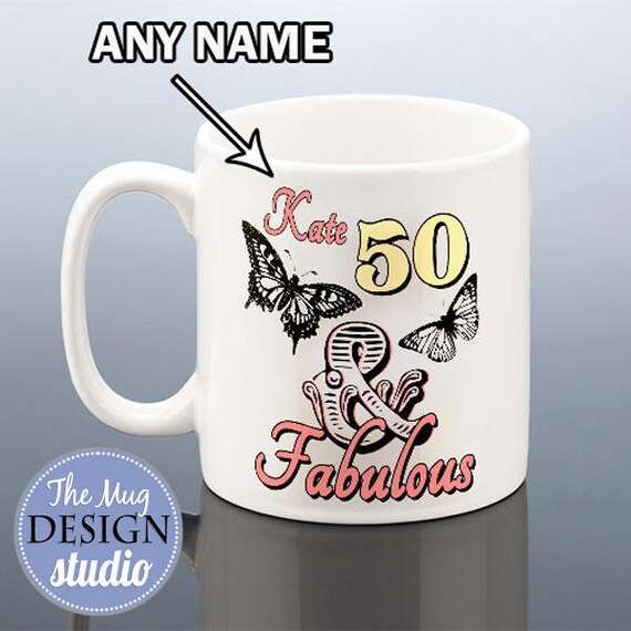 328d92c3240 50th Birthday Mug for Her 50th Birthday Gift for Women 50