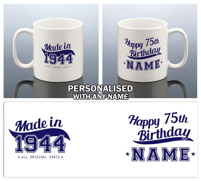 75th Birthday Mug Forhim Gift For Men