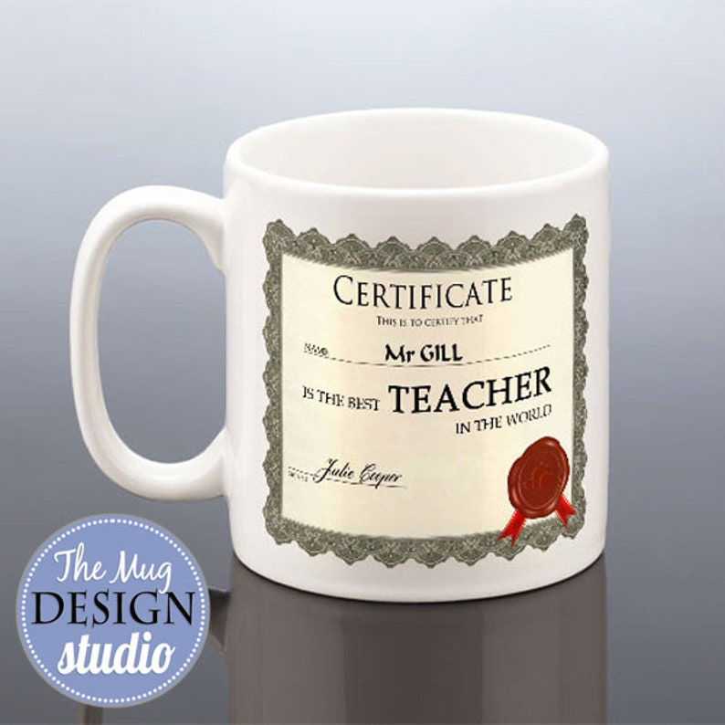 Personalised thank you teacher gift Mug cup Coaster end of term school present
