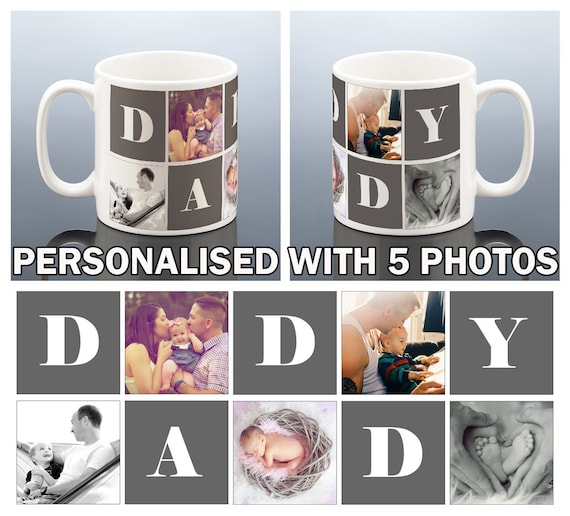 DADDY PHOTO Mug Photo Personalised Daddy Birthday Gift For New