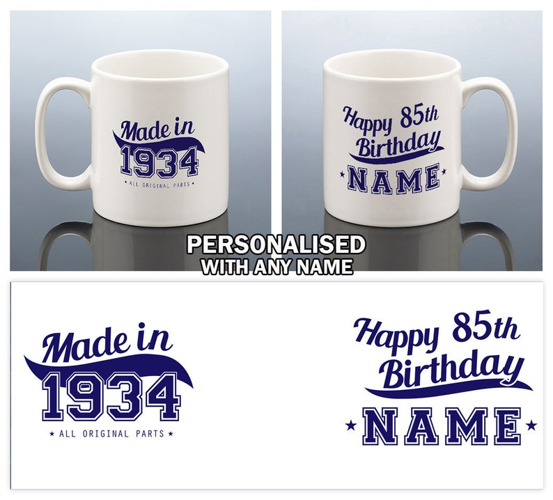 85th Birthday Mug For Men Gift Him 1934
