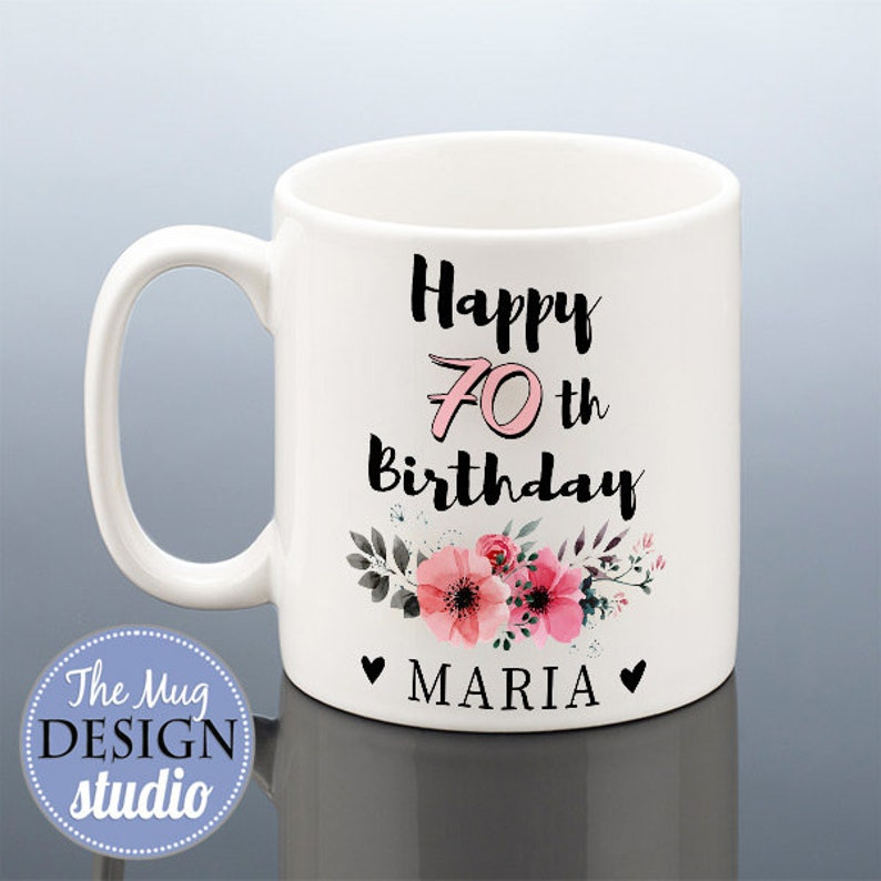70th BIRTHDAY MUG For Her Personalised Birthday Gift