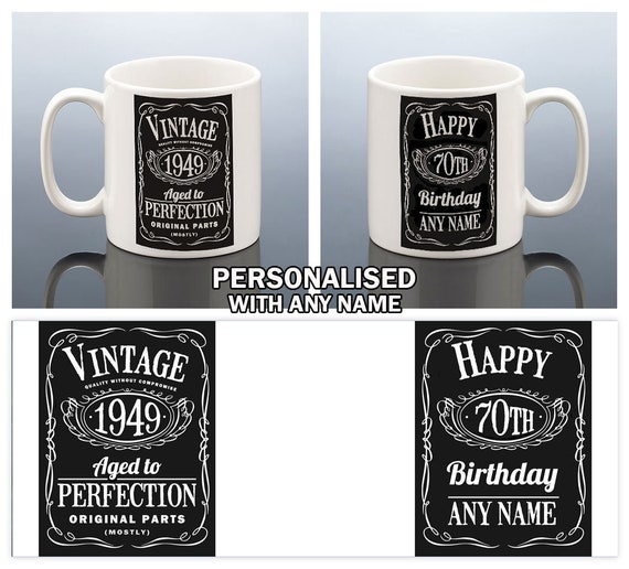 70th BIRTHDAY MUG For Men Birthday Gift Him
