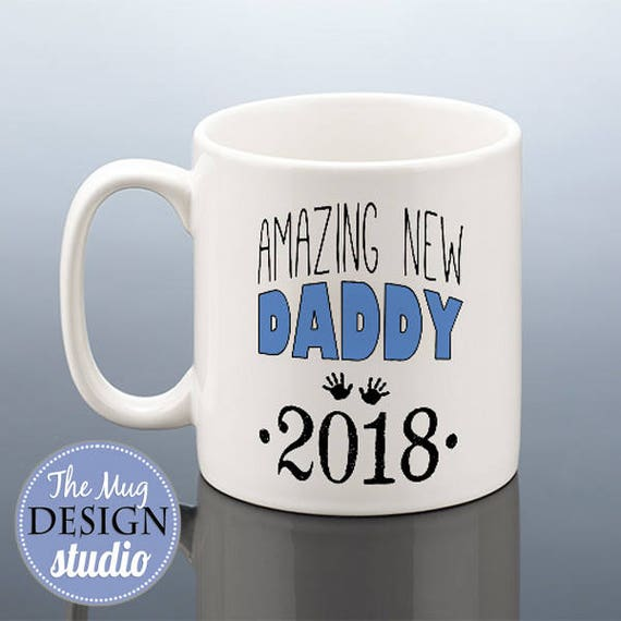 NEW DADDY Mug 2018 Daddy Christmas Gift New Dad To Be
