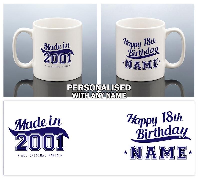 18th Birthday Mug For Him Personalised Gift Made