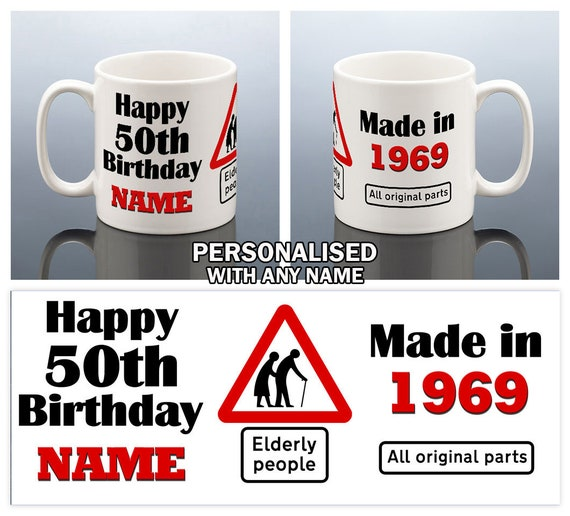 50th Birthday Mug For Men 50th Birthday Gift For Him 1969