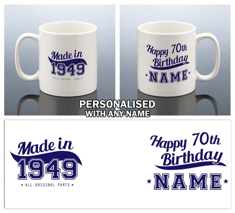70th Birthday Mug For Him 70 Gift Men