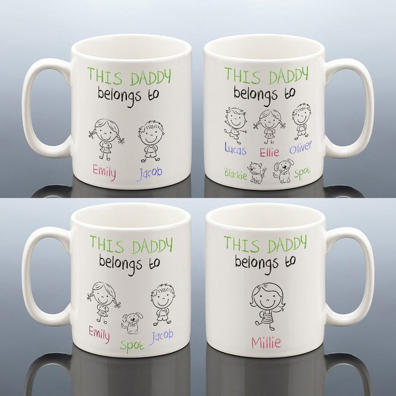 THIS DADDY BELONGS To Mug Personalised Daddy Birthday Gift For