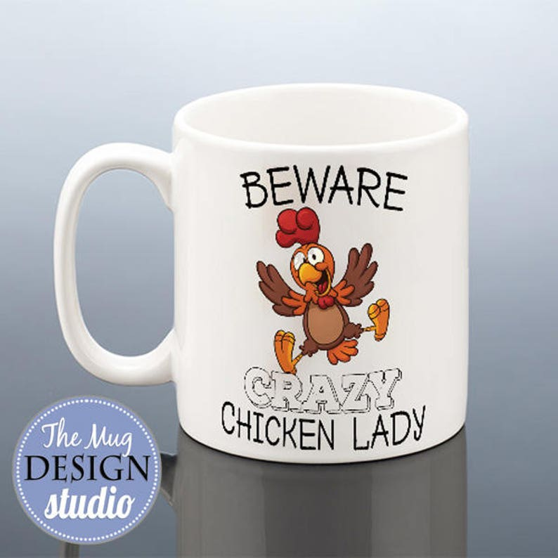 b59eda40948 CRAZY CHICKEN LADY Mug Birthday Gift for Her Chickens Birthday