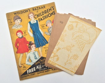 120e6cdfa0 FF RARE 1930s 5 Children s Sewing Patterns