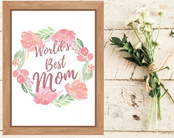 Mothers Day Gift From Daughter Mom Birthday Son Worlds Best Printable For Wife Under 10 Mommy
