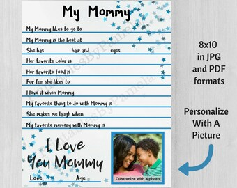Photo Mothers Day Gift From Son All About My Mommy Custom Mom For Mum Birthday Under 10