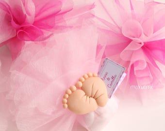 1 Bomboniere Pendant Magnet Fimo box confetti christening birth pins