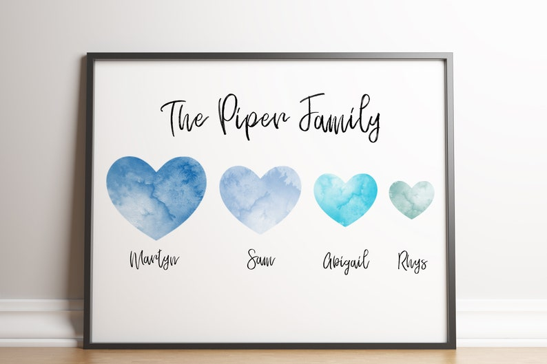 Custom Family Print Gift / Personalised Family Print / Family image 0