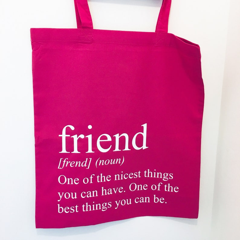 Friend Definition Tote Bag Friendship Gift image 0