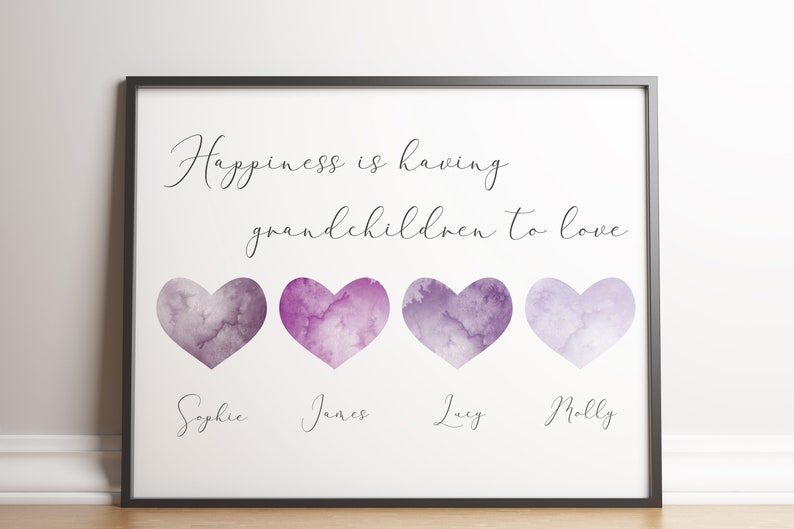 Personalised Grandchildren Name Print / Customised image 0