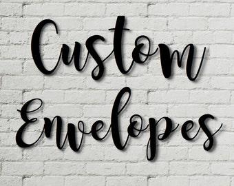 Custom Envelopes to Match Invite/Announcement/etc.