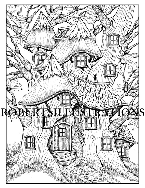 Treehouse Coloring Pages - Best Coloring Pages For Kids | 738x570
