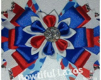 4th of July, Independence day classic hair bow