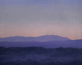 Sangre de Cristo Series 3, No.9 - Original Oil Painting - Contemporary Southwest Landscape - 24 x 36 inches - Handmade Wooden Frame