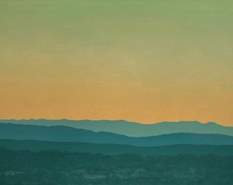 Jemez Series 3, No.9 - Original Oil Painting - Contemporary Southwest Landscape - 24 x 36 inches - Handmade Wooden Frame