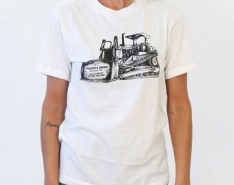 Vintage 1980s Perleberg & Johnson Antique Tractors T-Shirt